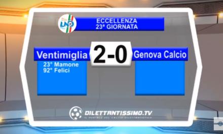 VIDEO – Eccellenza: Il servizio di Ventimiglia-Genova Calcio 2-0