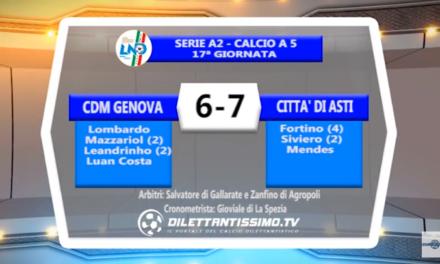 VIDEO – Futsal: Il servizio di CDM Genova-Città di Asti 6-7
