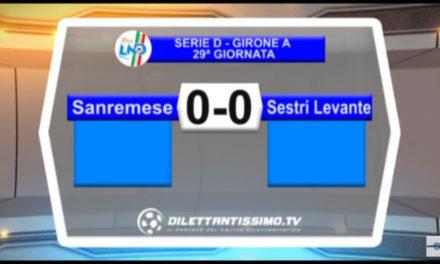 VIDEO: SANREMESE-SESTRI LEVANTE 0-0. STRESA – ARCONATESE 2-1. PRO DRONERO – BRA 2-3
