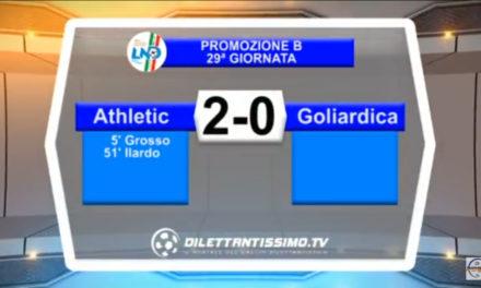 VIDEO: ATHLETIC- GOLIARDICA 2-0. Highlights + Intervista + Festa promozione
