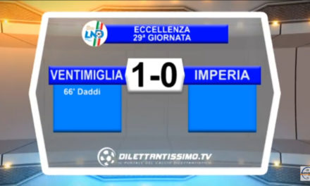 VIDEO: VENTIMIGLIA-IMPERIA 1-0
