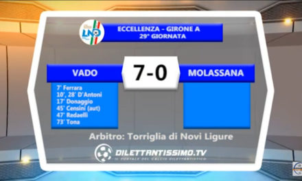 VIDEO: VADO – MOLASSANA 7-0. Highlights + Interviste