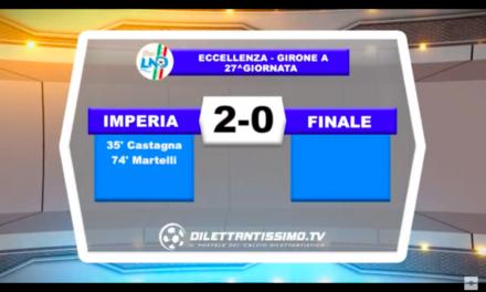 IMPERIA – FINALE 2-0.Hihlights e interviste