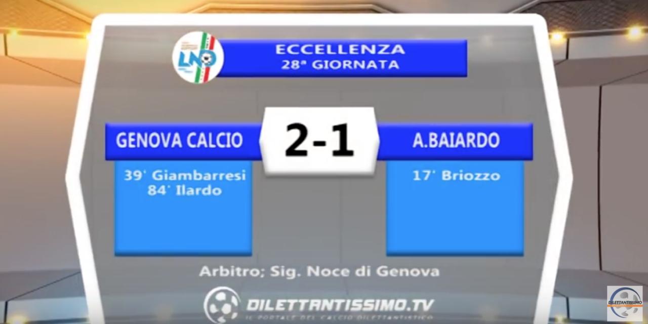 VIDEO – Genova Calcio-Baiardo 2-1: il servizio completo e le interviste