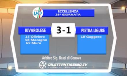 VIDEO – Rivarolese-Pietra Ligure 3-1: il servizio completo