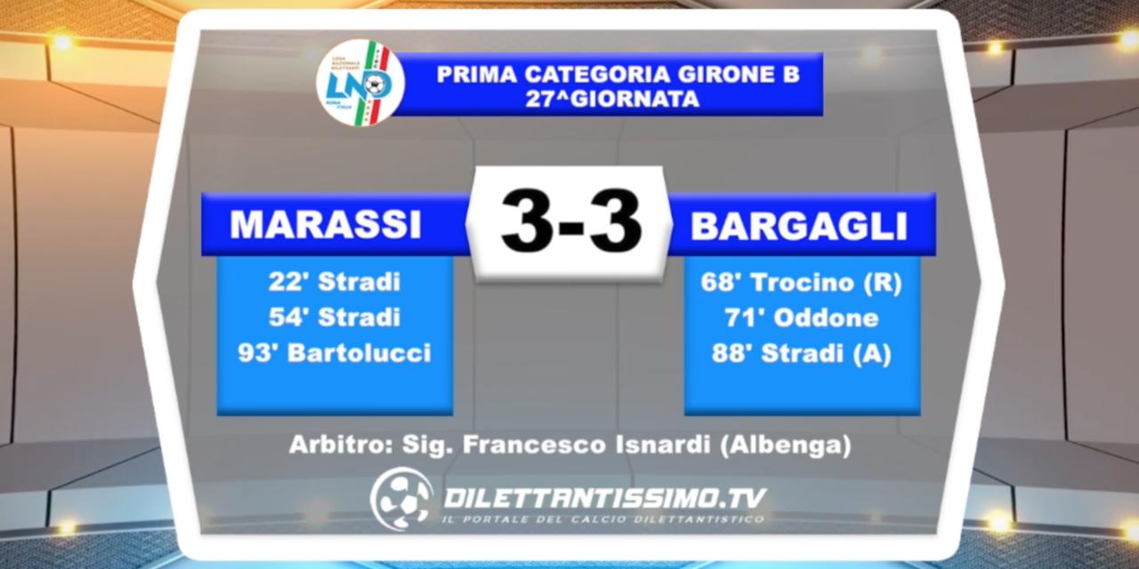 VIDEO – Marassi-Bargagli 3-3: il servizio completo e le interviste