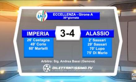 VIDEO: IMPERIA – ALASSIO 3-4. Highlights e intervista