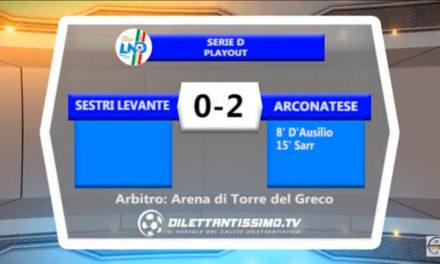 VIDEO: SESTRI LEVANTE – ARCONATESE 0-2
