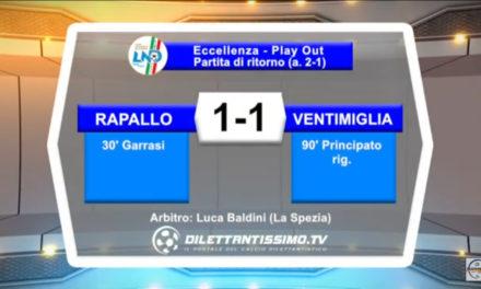 VIDEO: RAPALLO – VENTIMIGLIA 1-1 ritorno Play Out