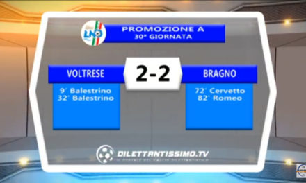 VIDEO: VOLTRESE – BRAGNO 2-2. Highlights +Interviste. Le polemiche del dopo gara