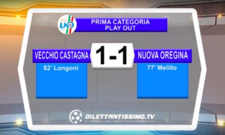 VIDEO: VECCHIO CASTAGNA – NUOVA OREGINA 1-1. Highlights + Interviste
