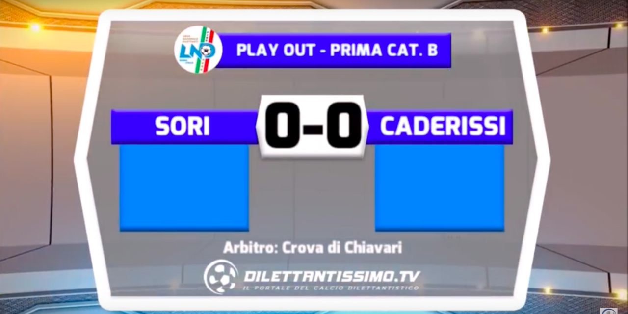 SORI – CA DE RISSI 0-0 FINALE PLAY OUT PRIMA CATEGORIA B
