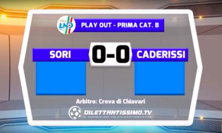 SORI – CA DE RISSI 0-0 FINALE PLAY OUT PRIMA CATEGORIA B