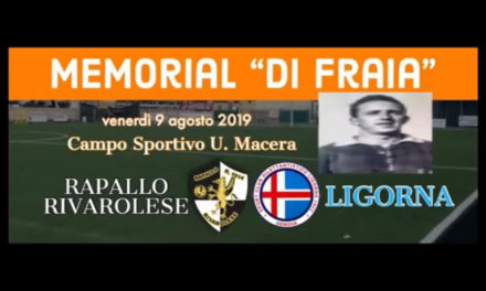 VIDEO: RAPALLO RIVAROLESE- LIGORNA 6-5. MEMORIAL DI FRAIA