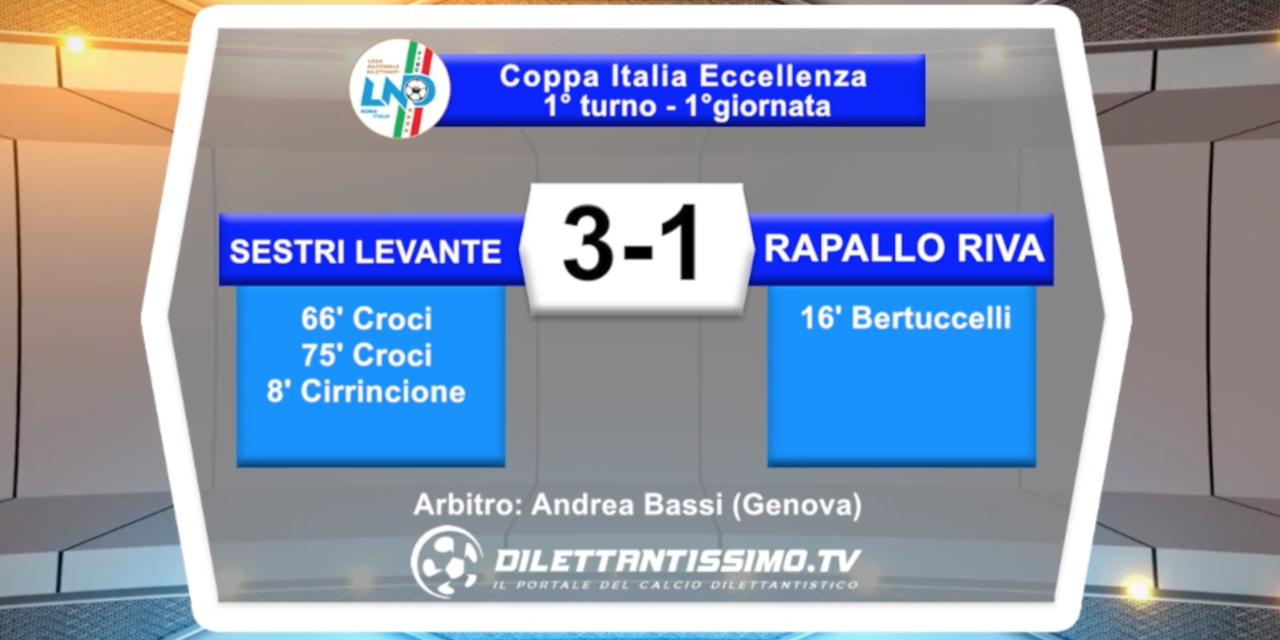 video – SESTRI LEVANTE-RAPALLO RIVAROLESE 3-1: gli highlights della partita
