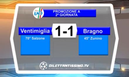Video: VENTIMIGLIA- BRAGNO 1-1 Highlights