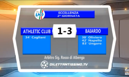 Video ATHLETIC- BAIARDO 1-3 Highlights e interviste