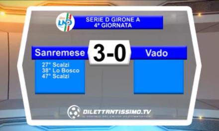Video: SANREMESE – VADO 3-0 Highlights
