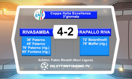 video – RIVASAMBA-RAPALLO RIVAROLESE 4-2: le immagini del match e le interviste