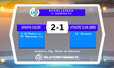 Genova Calcio – Athletic Club Liberi: Highlights + Interviste