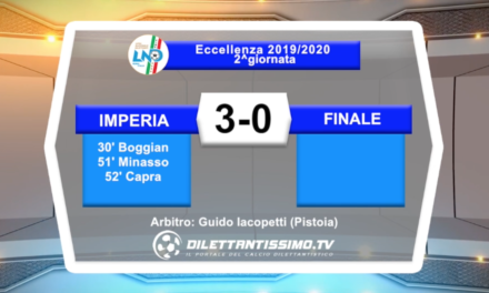 video – IMPERIA-FINALE 3-0: highlights e interviste