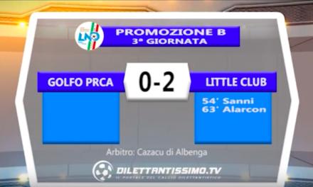 Video: GOLFO PARADISO – LITTLE CLUB 0-2 Highlights