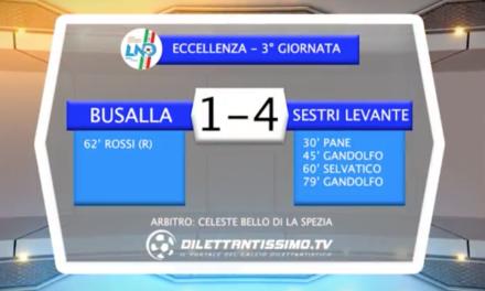 video – BUSALLA-SESTRI LEVANTE 1-4: Highlights