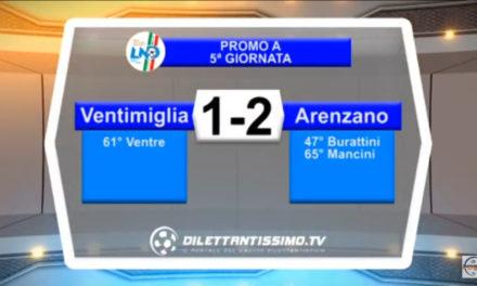 Video: VENTIMIGLIA – ARENZANO 1-2. Highlights