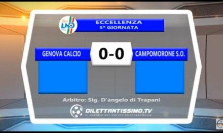 Video: Genova Calcio – Campomorone 0-0. Highlights + Interviste