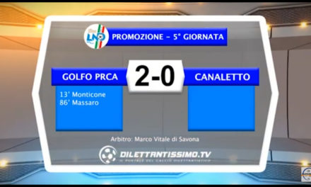 Video: GOLFO PRCA – CANALETTO 2-0. Highlights + Interviste