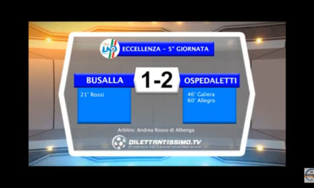 Video: BUSALLA – OSPEDALETTI 1-2. Highlights