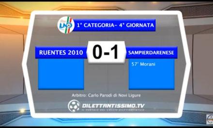 RUENTES – SAMPIERDARENESE 0-1 Highlights