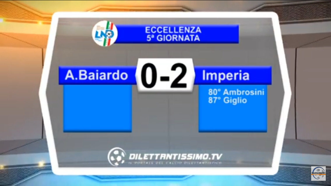 Video: A.BAIARDO – IMPERIA 0-2. Highlights + Interviste: Lupo, Baldi, Boggian