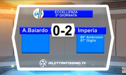 Video: A.BAIARDO – IMPERIA 0-2. Highlights + Interviste: Lupo, Baldi, Boggian