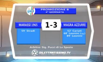 VIDEO – MARASSI-MAGRA AZZURRI 1-3: le immagini del match e l'intervista a mister Paolini