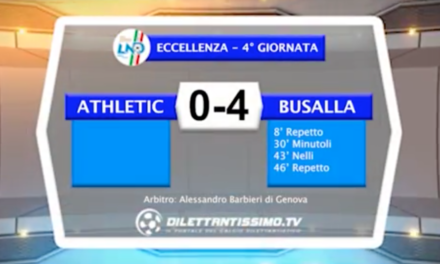 VIDEO – ATHLETIC-BUSALLA 0-4: le immagini del match e l'intervista a mister Cannistrà