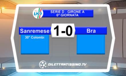 VIDEO – SANREMESE-BRA 1-0: le immagini del match