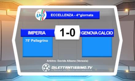VIDEO – IMPERIA-GENOVA CALCIO 1-0: le immagini del match