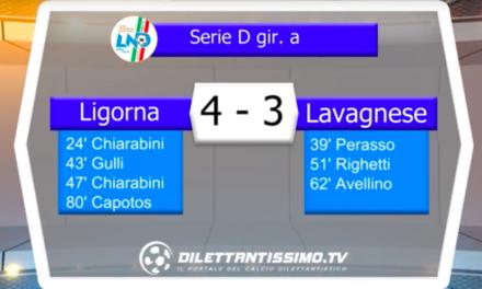 LIGORNA – LAVAGNESE: Highlights della partita