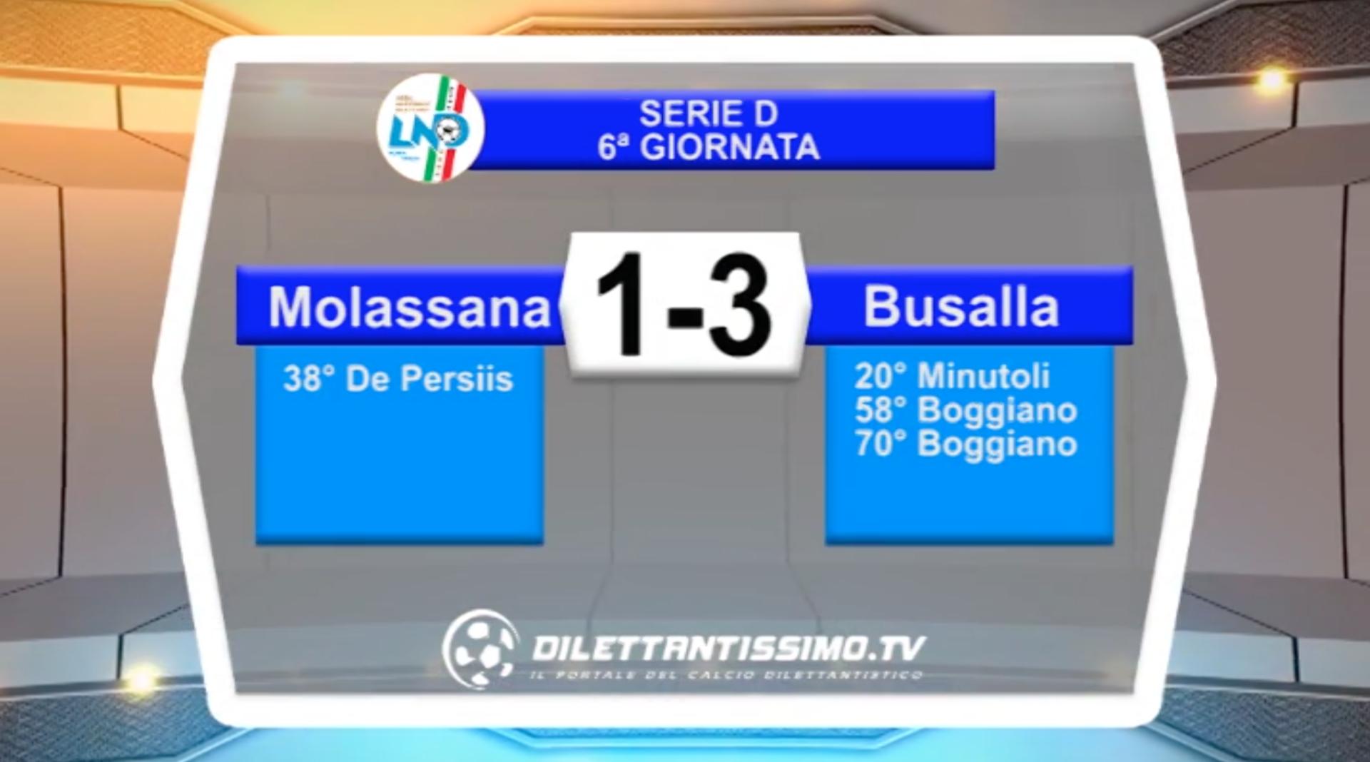VIDEO – MOLASSANA-BUSALLA 1-3: le immagini del match