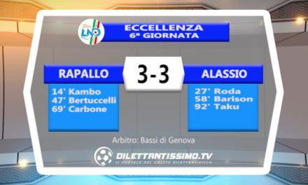 VIDEO – RAPALLO RIVAROLESE-ALASSIO 3-3: le immagini del match + interviste