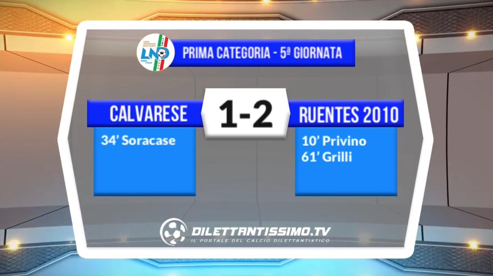 VIDEO – CALVARESE-RUENTES 1-2: le immagini del match + interviste