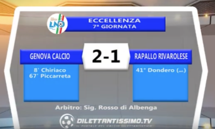 VIDEO – GENOVA CALCIO-RAPALLO RIVAROLESE 2-1: le immagini del match e le interviste