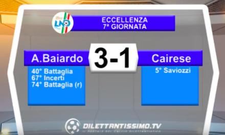 VIDEO – A. BAIARDO – CAIRESE 3-1: le immagini del match e le  Interviste