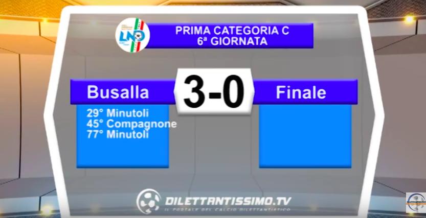 VIDEO – BUSALLA-FINALE 3-0: le immagini del match