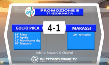 VIDEO – GOLFO PRCA-MARASSI 4-1: le immagini del match e le interviste