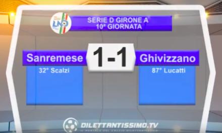 SANREMESE – GHIVIZZANO 1-1: Highlights della partita
