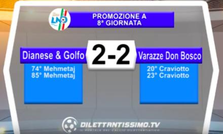 DIANESE & GOLFO – VARAZZE DON BOSCO 2-2: Highlights della partita