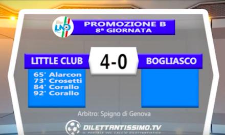 LITTLE CLUB – BOGLIASCO 4-0: Highlights della partita + Interviste