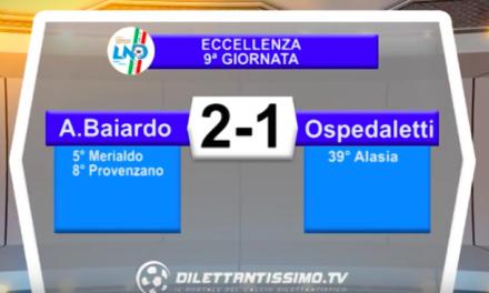 BAIARDO – OSPEDALETTI 2-1: Highlights della partita